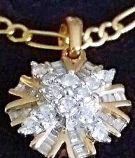 QVC-0,50 ct Diamant Brillanten Anhänger mit Zertifikat 9 K BC/375 Gelbgold Kette