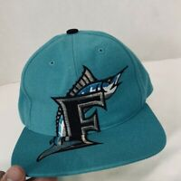 Rare Florida Marlins MLB Vintage Snapback Hat Cap American Needle Huge Logo