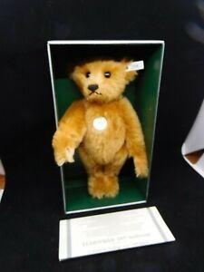 """14"""" Steiff 1907 Teddybar 1991 Teddy Bear Limited Edition Mohair Bear MIB"""