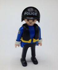 Playmobil 5786 5844 Figure Police Woman Hat Cap Cuffs Life Vest Police Boat