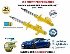 FOR SUBARU BRZ 2.0 200BHP 2012-> 2 X FRONT LEFT RIGHT SHOCK ABSORBER SHOCKER SET
