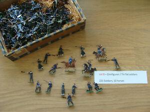 Large collection Vintage flat tin soldiers 30mm - zinnfiguren (Lot 8)