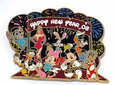 RARE LE JUMBO Disney Pin✿Jessica Stitch Mickey Donald Cast Parade Happy New Year