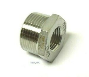"3/8"" X 1/8"" 150# Cast Threaded (NPT) Hex Bushing 304 Stainless Steel <SS12030141"