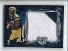 DAVANTE ADAMS 2014 BOWMAN STERLING BLUE WAVE ROOKIE RC USED WORN PATCH AB6484