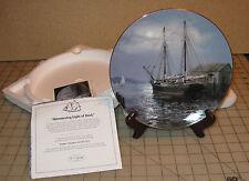 """Shimmering Light Of Dusk"" Tall Sailing Ship Collector Plate - No Coa, Vickery"