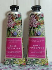 LOT OF 2 CRABTREE & EVELYN - ROSE PINEAPPLE - HAND THERAPY CREAM LIMITED EDITION