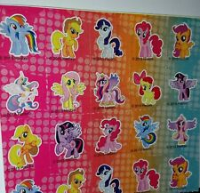 Glittery mini square-shaped My Little Pony Friendship is Magic stickers!