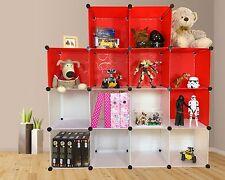 plastic storage shelf home shoe rack DIY cube unit white organiser wardrobe uk