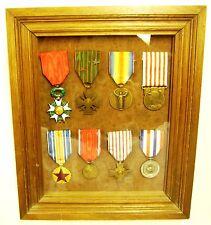 belle portée médailles Poilu de 1914-1918 encadrée d'époque WW1