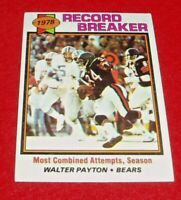 1979 Topps Football # 335 Record Breaker Walter Payton nm/m