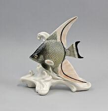 Porzellan Figur Fisch Skalar grau Ens H15cm 9941281