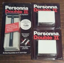 Vintage Personna Double II Twin Blade Shaving System with 10 Blades