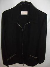 HARRY POTTER Womens Solid Black zipper up Jacket size S - as new