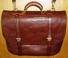 Handmade Softside Leather Briefcase/Carry On/Tote Bag