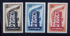 LUXEMBOURG 1956 EUROPA set 3 MINT VERY LIGHT HINGE