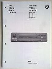 BMW Service E46 Radio-Audio-Telefon C42 C43 CD43 C44 RDS HiFi Phase V SA MFL LSZ