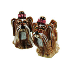 Cashmere Yorkshire Terrier Dog Salt & Pepper Shakers Blue Sky Lynda Corneille