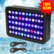 165W 110V Mars Aqua LED Aquarium Light Dimmable  Spectrum Coral Reef Marine Tank