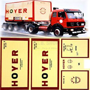Mercedes Sk Hoyer Hamburg 1:87 Camion Autocollant Stickers