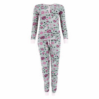 INTIMO Womens Ruffle Henley Pajama Sleep Top