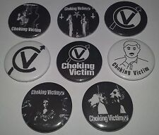 8 Choking Victim Pin Button badges 25mm Leftover Crack Hellcat Rocksteady Satan