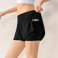 Damen Shorts Hot Pants Bermudas Lose Kurze Yogahose Sporthose Übergröße_