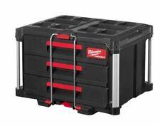 Milwaukee Packout™ Valise Avec 3 Tiroirs Boîte à Outils 3 Tiroirs Boîte