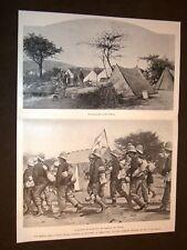 Colonie d'Italia nel 1897 Bio Caboba Croce Rossa d'Italia soccorso prigionieri