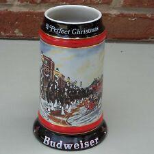 Budweiser 1992 Christmas Mug Beer Stein