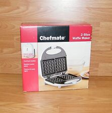 Genuine Chefmate (Wm-77) 2 Slice Waffle Maker With Ready Light *New-Read*