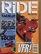 Ride Magazine - January 1998 - Fireblade, BMW R1100RS, Honda VFR, R850R v Monste
