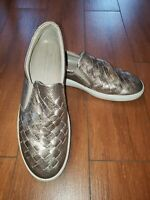 Ecco Soft 7 Woven warm gray metallic Slip-On Sneaker Wmn 43 EU /12 US