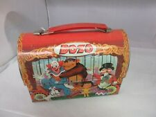 VINTAGE ADVERTISING ALADDIN BOZO THE CLOWN 1963 DOME TOP LUNCH BOX  43-Z