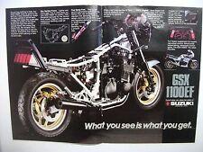 1984 SUZUKI GSX1100EF AUSTRALIAN MAGAZINE COLOUR CENTRESPREAD ADVERTISEMENT
