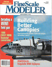 Fine Scale Modeler Sept.95 M1905 Field Piece Seamless Canopy Windows Nova Road