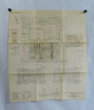 Vtg 1958 Curtis Publishing Co Phil Pa Plot Plan Street Map Fire Protection 22x26
