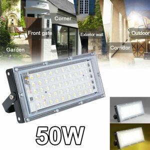 50W LED Floodlight Outdoor Light Security Outside Wall Flood Lights Garden Lamp