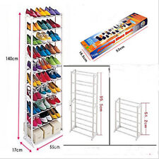 10 Tier 30 Pair Space Saving Storage Organizer Closet Shoe Rack Tower