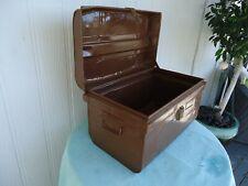 vintage antique metal trunk treasure chest toy box
