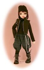 """BJD pattern 4 Creedy 12.75"""", 3 outfits; cat, punk & dress. Copy at 110% for MSD"""