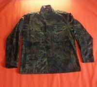 German Army Flecktarn Camo Combat Shirt Vintage Suplus Size L Streetwear