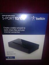 (New) Belkin 5-Port 10/100 Mbps Ethernet Switch (F4G0500) FACTORY SEALED