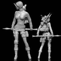 Original 1/24 75MM RPG Girl Figure Model Female Soldier Resin Garage Kit E1D4
