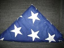 Folded American Flag Casket/Coffin...Appliqued Stars....Estate Find
