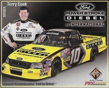 "2005 TERRY COOK ""POWER STROKE DIESEL FORD #10 NASCAR TRUCK SERIES POSTCARD"