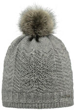 2017 NEW BARTS CELESTE HEATHER GREY ADULT BEANIE FAUX FUR POM HAT WOMEN'S LADY