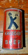 "Tough Krueger ""K-Man"" Finest Beer Irtp 12 oz Flat Top Beer Can"