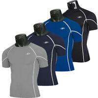 Men's Compression Short Sleeve Tops Sports Gym Running Fitness Athletic T-Shirt