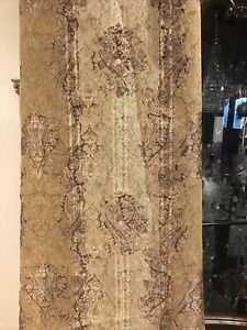 CROSCILL CLASSIC ST JAMES BRONZE BROWN GOLD PAISLEY LINED POLE  CURTAINS 40X84